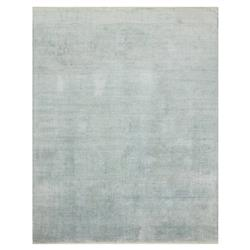 Faded Motif Sky Blue Bamboo Silk Rug - 4x6