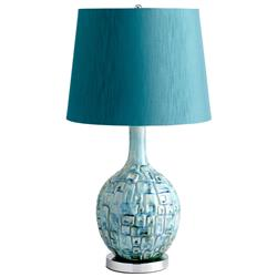 Jordan Coastal Beach Aqua Turquoise Blue Modern Table Lamp | CYAN-04816