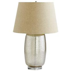 Vista Antique Mercury Glass Modern Elegant Gold Crackle Table Lamp | CYAN-04821