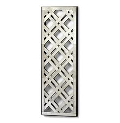 Long Rectangle Lattice Trellis Antique Mirror