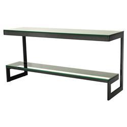 Eichholtz Gamma Modern Classic Rectangular 2 Tier Glass Bronze Console Table