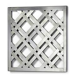 Square Lattice Modern Trellis Antique Mirror | CYAN-04750