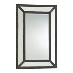 Merlin Lodge Rustic Nail Head Raw Iron Mirror