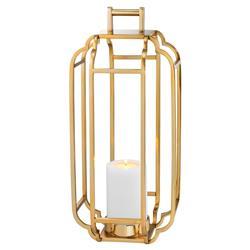 Eichholtz Industrial Loft Palisades Caged Lantern Hurricane - Gold