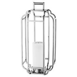 Eichholtz Industrial Loft Palisades Caged Lantern Hurricane - Silver