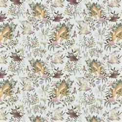 Anewall OH Deer Modern Classic Animals Light Wallpaper