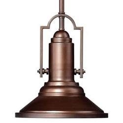 Harmon Modern Industrial Antique Oiled Bronze Pendant Lamp | Kathy Kuo Home