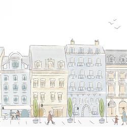 Anewall Parisian Street Modern Classic Madeline Inspired Wallpaper