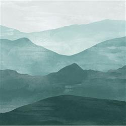 Anewall Mountain Modern Classic Emerald Green Removable Wallpaper