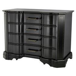 Eichholtz Beaux Arts Modern Classic Waxed Black Antique Bronze 4 drawer Dresser