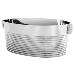 Eichholtz Biarritz Modern Classic Polished Stainless Steel Champagne Cooler