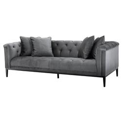 Eichholtz Cesare French Country Tufted Granite Grey Modular Sofa
