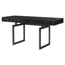 Eichholtz Executive Modern Classic Eucalyptus 4 Drawer Rectangular Desk