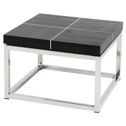 Eichholtz Magnum Modern Classic Black Oak Square Side End Table