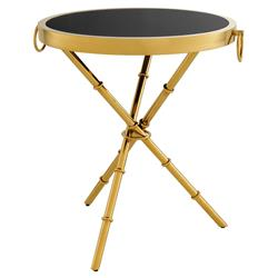 Eichholtz Omni Hollywood Regency Gold Round Side End Table