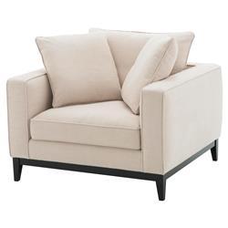 Eichholtz Principe Modern Classic White Upholstered Modular Accent Club Chair