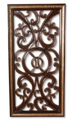 Tangiers Spanish Rustic Wood Scroll Wall Panel Art