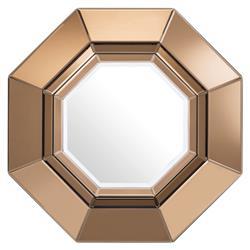 Eichholtz Chartier Mid Century Modern Amber Mirror Glass Octagonal Wall Mirror