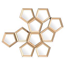 Eichholtz Cheyenne Modern Classic Rose Honeycomb Wall Mirror