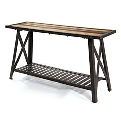 St. Remy Reclaimed Wood Modern Industrial Console Table