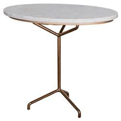 Kelly Hoppen Rose Modern Classic Rose Gold Oval Marble Top Side Table