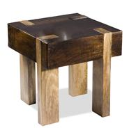 Berkeley Solid Chunky Wood Contemporary End Side Table
