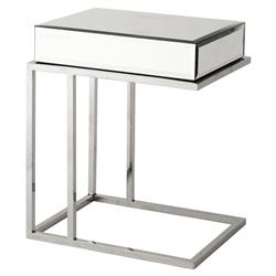 Eichholtz Beverly Hills Regency Rectangle Beveled Mirror Glass High Side Table