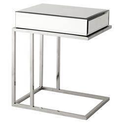 Eichholtz Beverly Hills Regency Rectangle Beveled Mirror Glass High Side Table