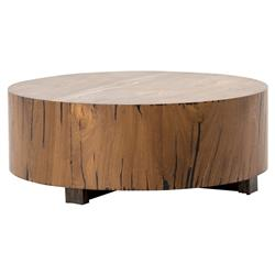 Redding Rustic Lodge Round Wood Tree Trunk Coffee Table
