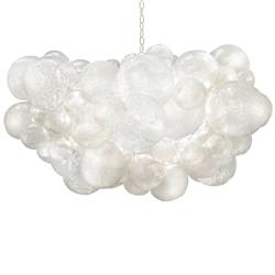 Oly Studio Muriel Clear Resin Bubbled Chandelier