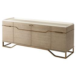 Catalina Modern Classic Beachwood Quartered Oak Pear Lacquer Tray Cabinet