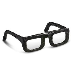 Rustic Iron Hand Forged Sculpted Spectacles Glasses Paper Weight