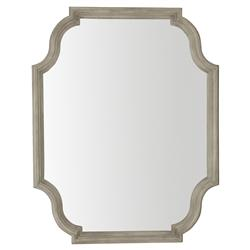 Michaela French Country Wood Framed Glass Wall Mirror