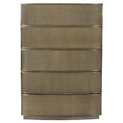 Portia Hollywood Regency Steel Mesh 5 Drawer Dresser