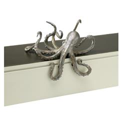 Octopus Coastal Beach Cast Iron Antique Silver Bronze Shelf Sculpture