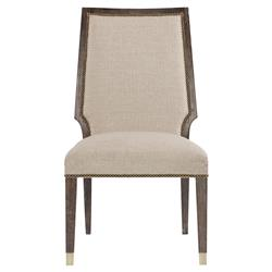 Clarke Modern Classic Ash Solids Wooden Beige Upholstered Dining Side Chair