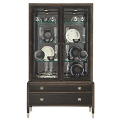 Clarke Modern Classic Ash Solids Wood Leather Wrapped China Cabinet