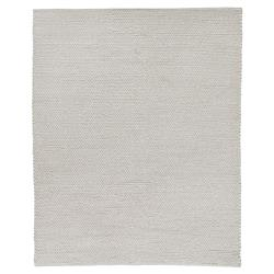 Exquisite Rugs Arlow Modern Classic Cable Knit Woven Solid Ivory Rug - 6' x 9'