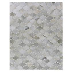 Exquisite Rugs Natural Hide Modern Classic Moroccan Pattern Cream Grey Rug - 5' x 8'