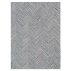 Exquisite Rugs Natural Hide Modern Classic Chevron Pattern Light Beige Rug - 5' x 8'