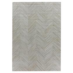 Exquisite Rugs Natural Hide Modern Classic Chevron Pattern Grey Beige Rug - 5' x 8'
