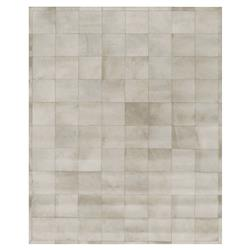Exquisite Rugs Natural Hide Modern Classic Square Pattern Beige Grey Rug - 5' x 8'
