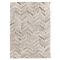 Exquisite Rugs Natural Hide Modern Classic Chevron Pattern Beige Rug - 5' x 8'