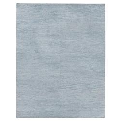 Exquisite Rugs Perry Modern Classic Heathered Sky Blue Bamboo Silk Rug - 6' x 9'