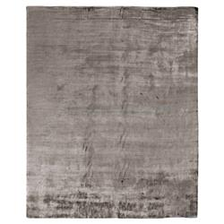 Exquisite Rugs Purity Modern Classic Heathered Elegant Mink Grey Bamboo Silk Rug - 6' x 9'