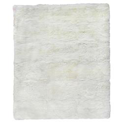 Exquisite Rugs Sheepskin Modern Classic Pearl White Fur Rug - 5' x 8'