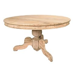 Reclaimed English Oak Pedestal Breakfast Table | AG-F14