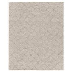 Exquisite Rugs Brentwood Modern Classic Diamond Pattern Beige Wool Rug - 6' x 9'