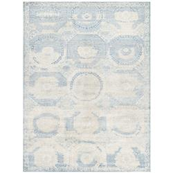 Exquisite Rugs Mamluk Global Bazaar Moroccan Pattern Distressed Blue Rug - 8' x 10'