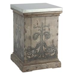 Tracery French Country Antique Hand Painted End Table | AG-F31